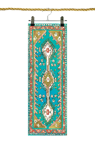 Turquoise Traditional Magic Carpet Yoga Mat: CHF 120.00